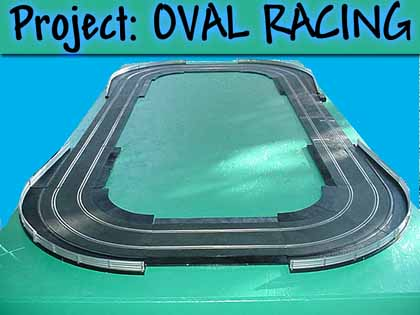 Project Oval Home Racing World Slot Car Garage
